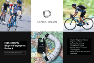 Midas Touch Bicycle Fingerprint Identification Padlock