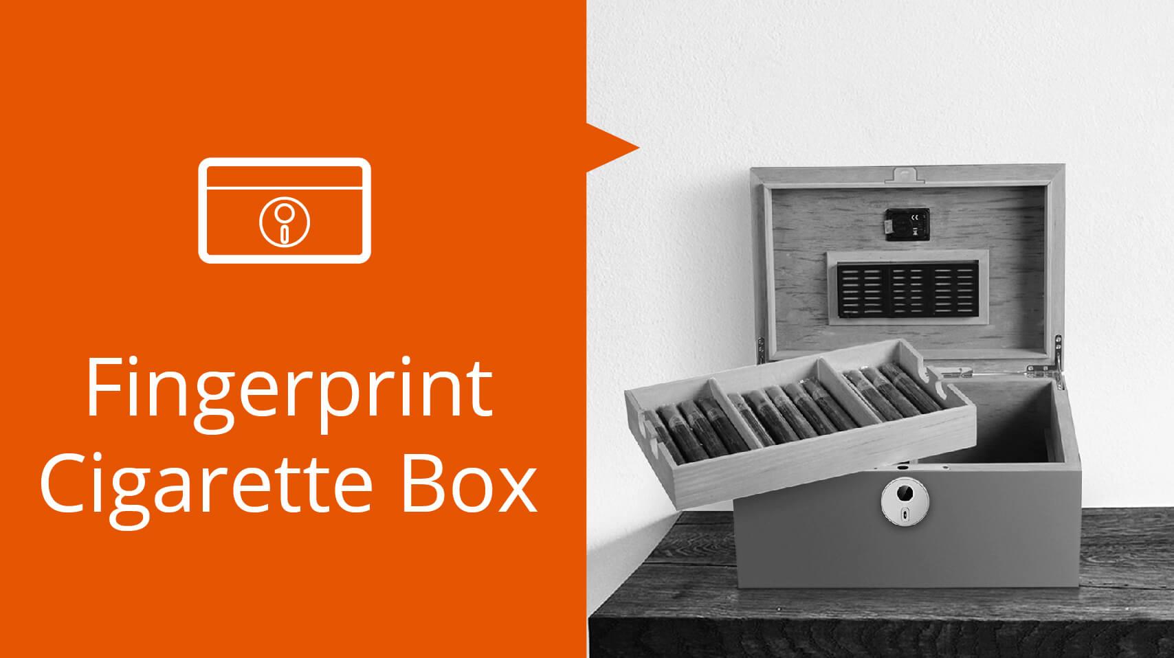 Customization for fingerprint Ciarette Box