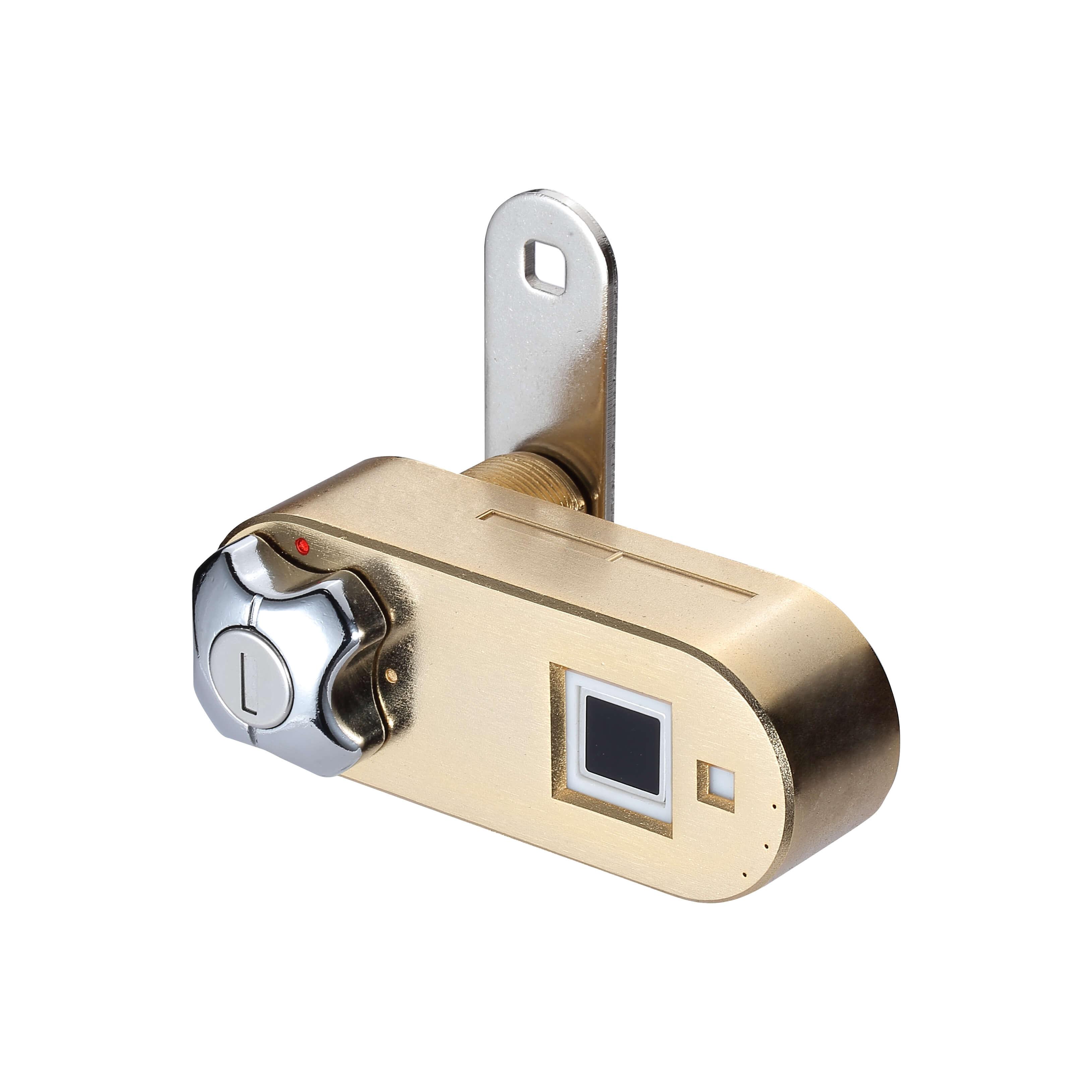 Golden Fingerprint Drawer Office Lock front look | Midas Touch