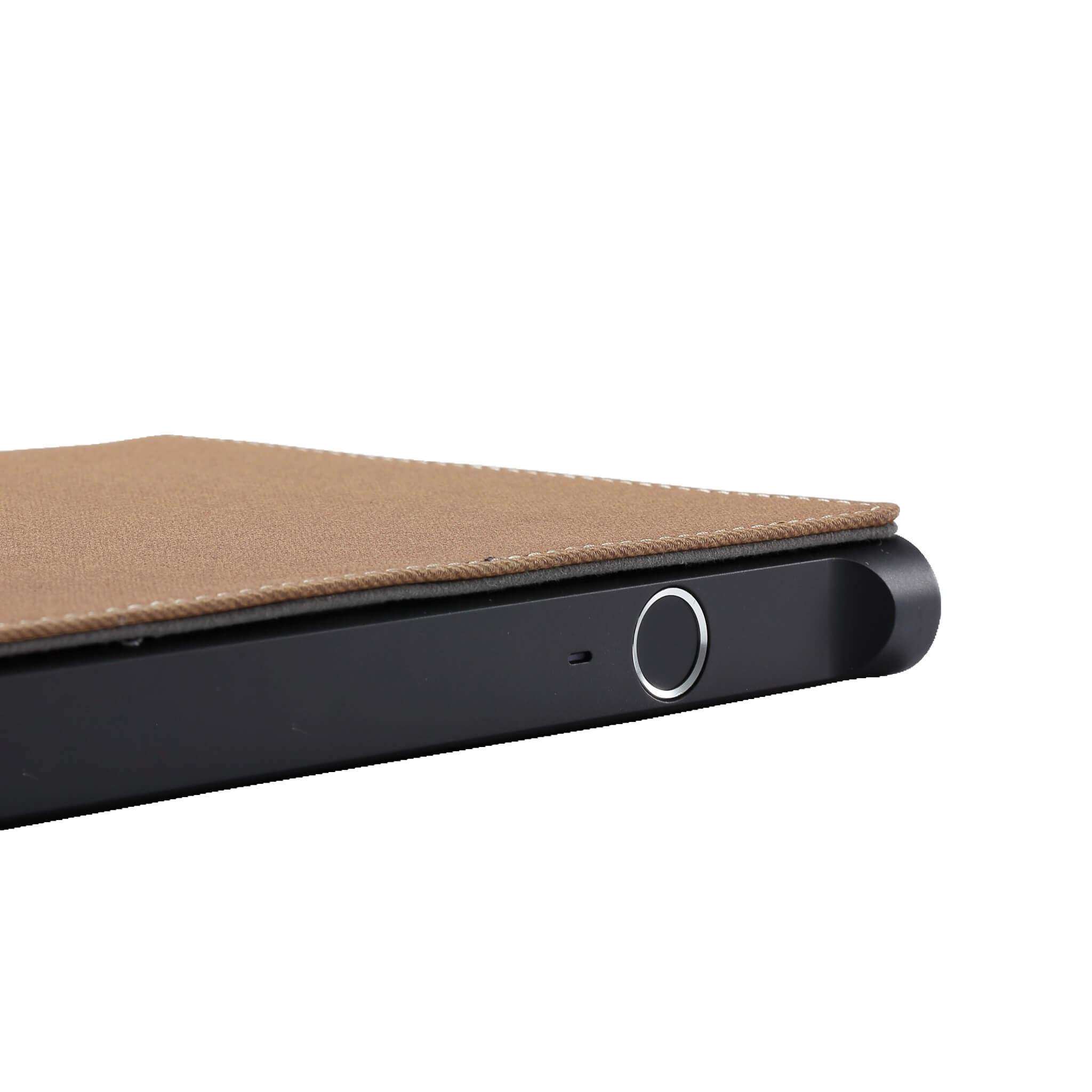 Khaki Fingerprint Smartbook book side | Midas Touch
