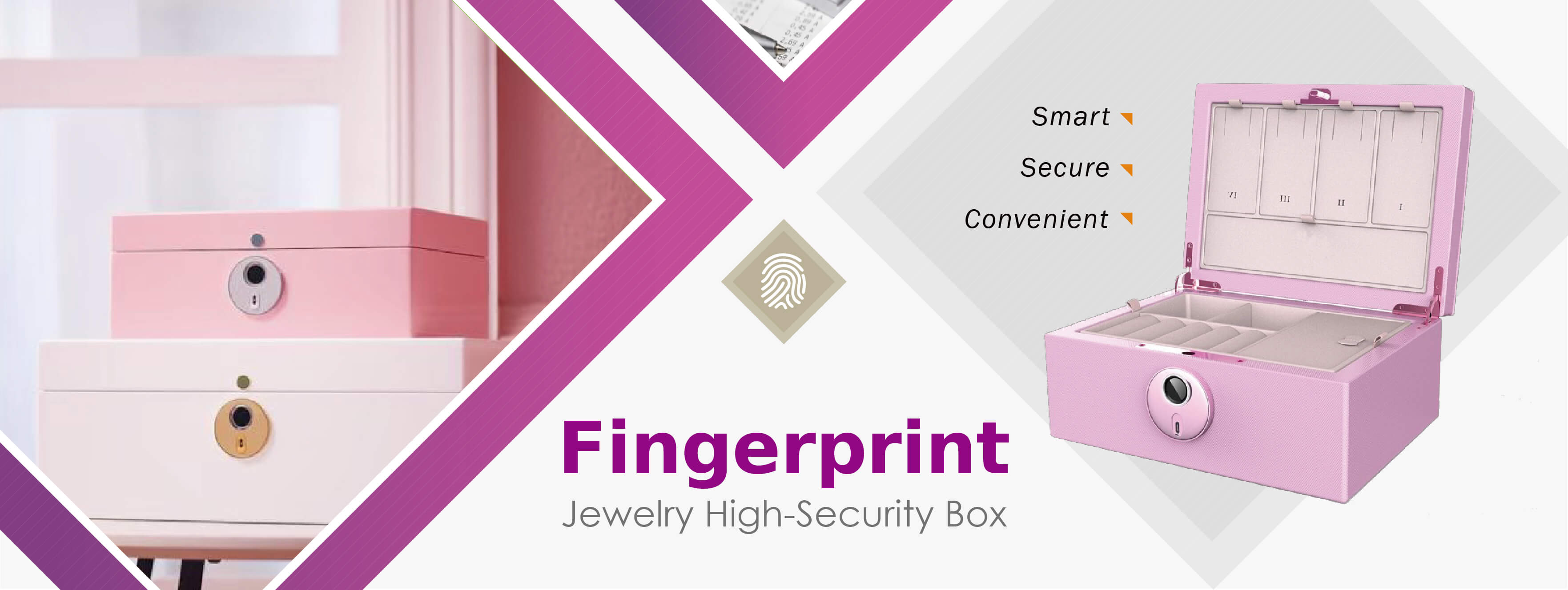 Midas Touch Fingerprint Jewelry High-Security Box