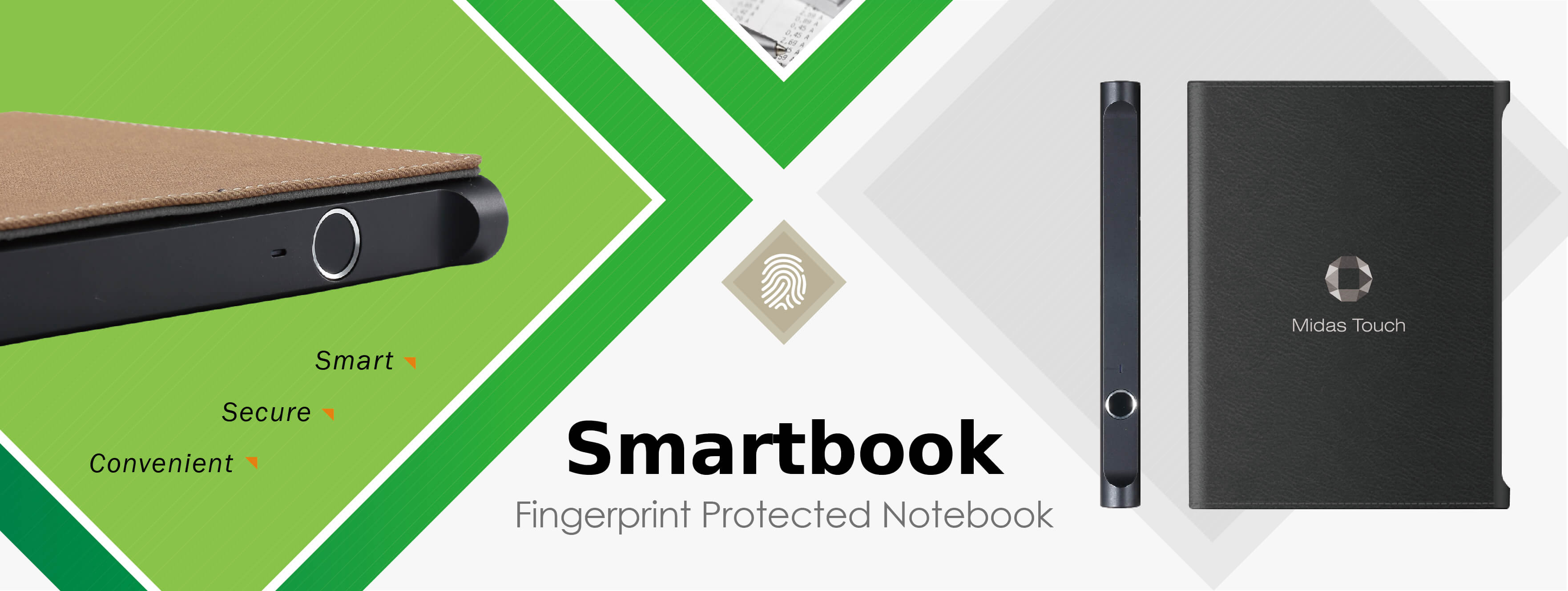 Midas Touch Smartbook Fingerprint Protected Notebook